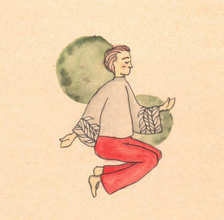 Kuva 1. Hengitysharjoitusten tarkoituksena on ankkuroida mieli juuri käsillä olevaan hetkeen. (Kuva: Marika Uusi-Simola)