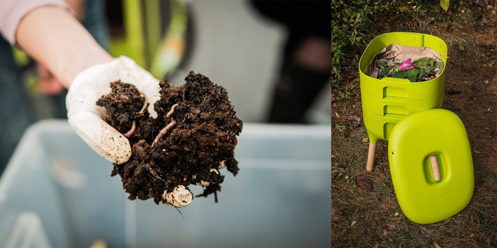 California earthworms are essential in vermicomposting. An example of home vermicomposter.